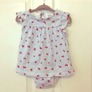 Baby girl's onesie dress by Carter's, 12mo